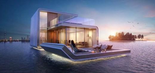 Casele plutitoare din Dubai