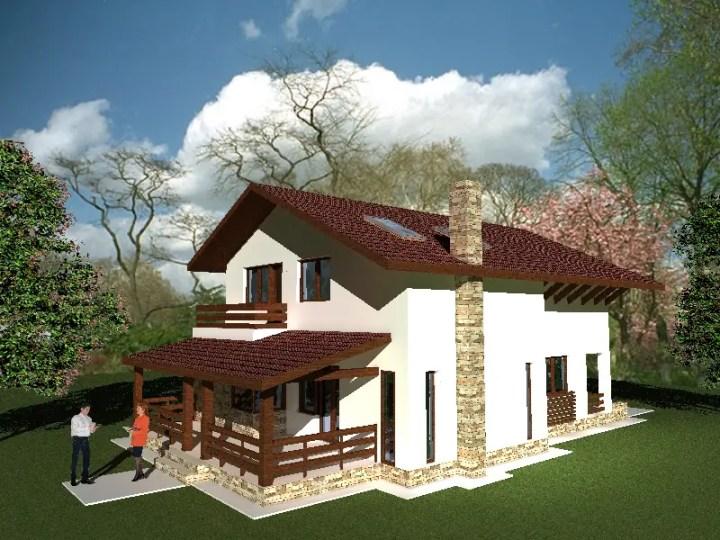 Proiecte de case la campie spatioase