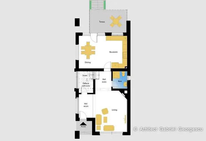Proiecte Case Terenuri Mici Home Plans For Narrow Lots Modele Terasa Spatiu