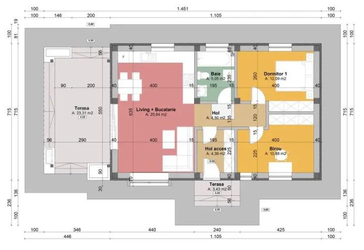 Proiecte de case pentru familii cu trei membri mici