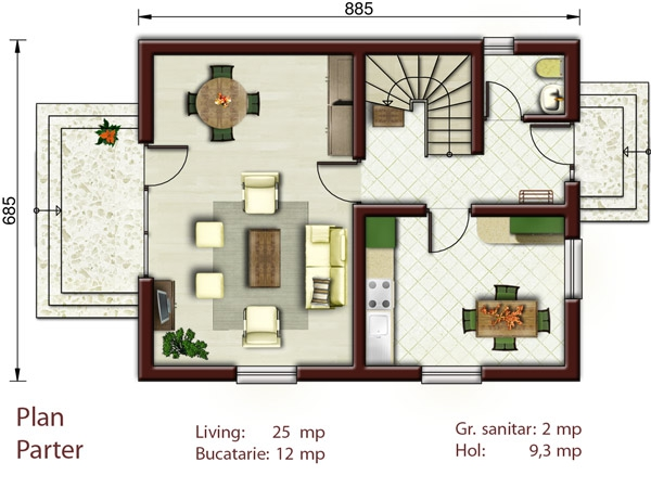 Proiecte de case pentru o familie cu patru membri - Best house plans for a family of four ...