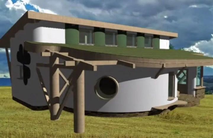 case din baloti de paie naturale