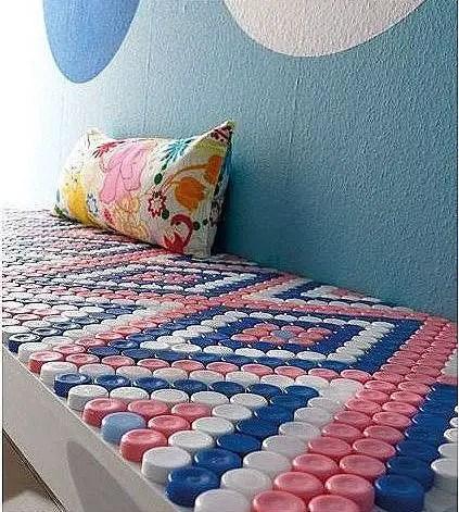 Plastic bottle caps crafts ideas