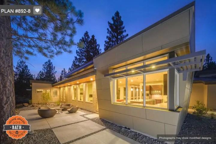 Proiecte de case cu acoperis drept moderne