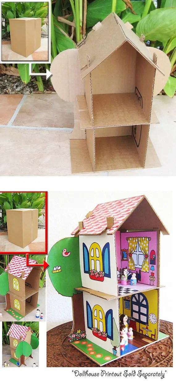 ce poti face cu o cutie de carton DIY projects with a cardboard box 3
