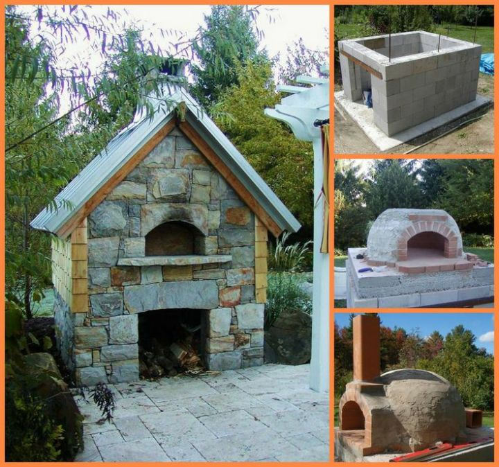 constructia unui gratar de gradina How to build an outdoor brick oven 9