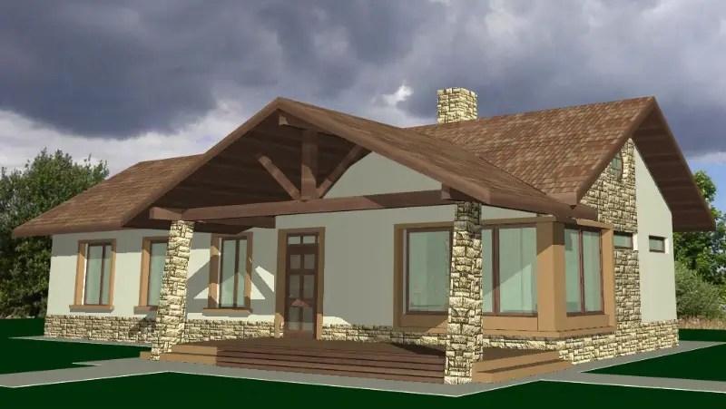 Modele de case cu terasa in fata spatiu pentru tine for Case cu terase