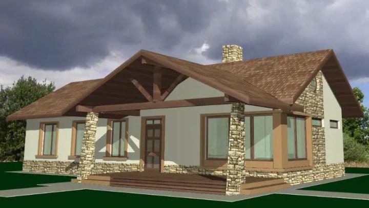 Modele de case cu terasa in fata pentru relaxare