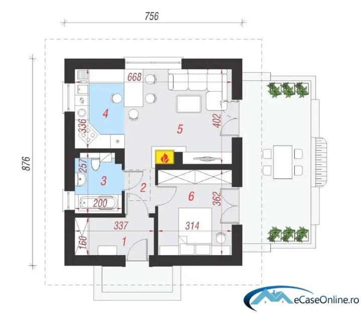 proiecte de casa cu o camera small one room house plans 7