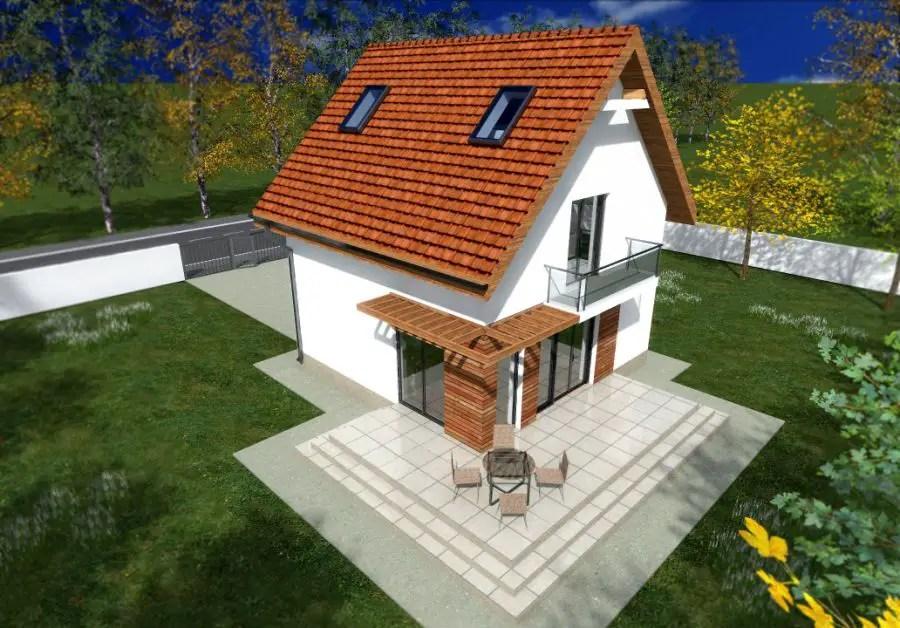 Proiecte de case mici cu etaj dimensiuni mici spatiu mare for Case cu etaj