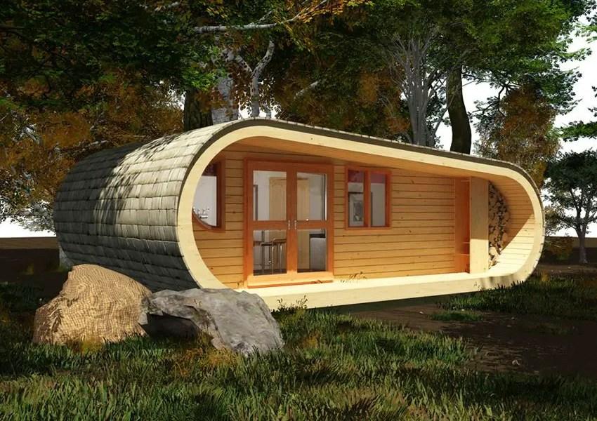 Casa prefabricata din copac in ton cu natura