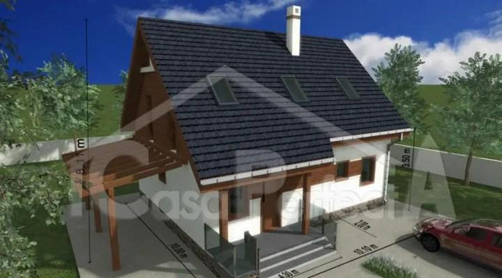 Proiecte de case cu amprenta de 80 mp spatioase