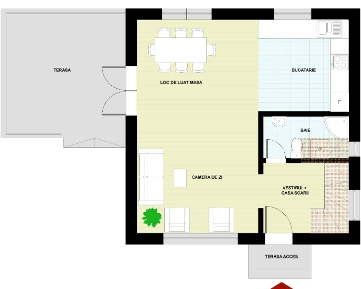 Proiecte de case cu etaj si terasa acoperita Two story house plans with covered patios 9