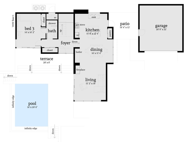 case cu terase din sticla house plans with glass terrace 10