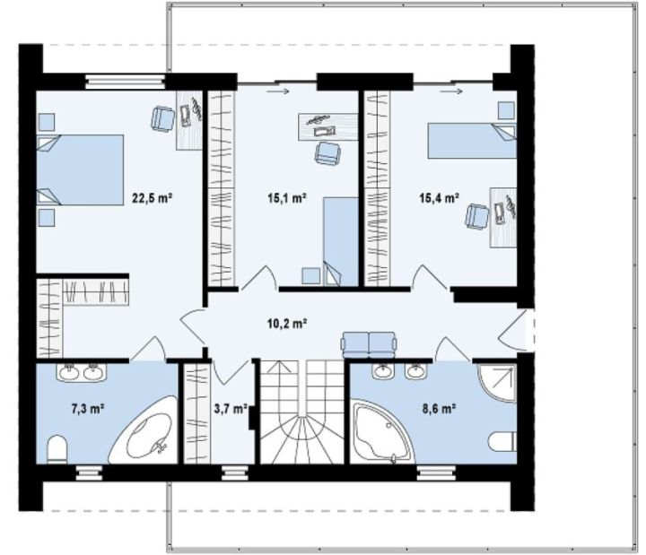 modele de case cu si fara etaj one and two story house plans 6