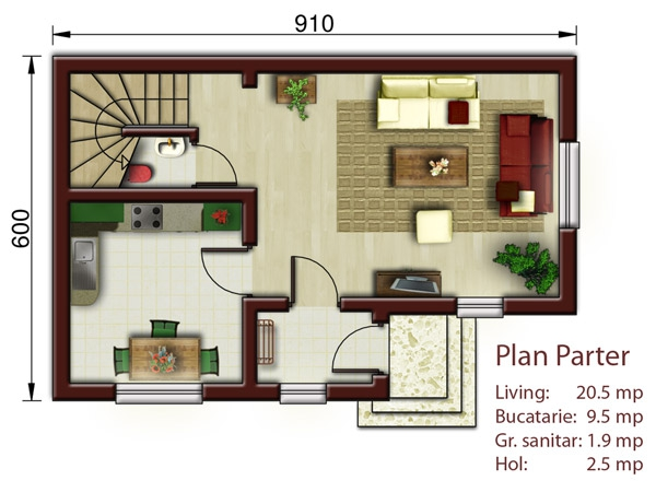 proiecte de case de 100 de metri patrati 1,000 square feet house plans 2