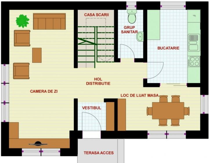 proiecte de case de 100 de metri patrati 1,000 square feet house plans 9