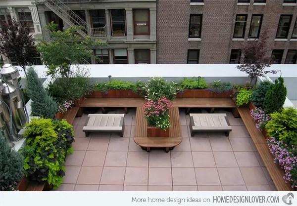 Terase pe acoperis in aer liber