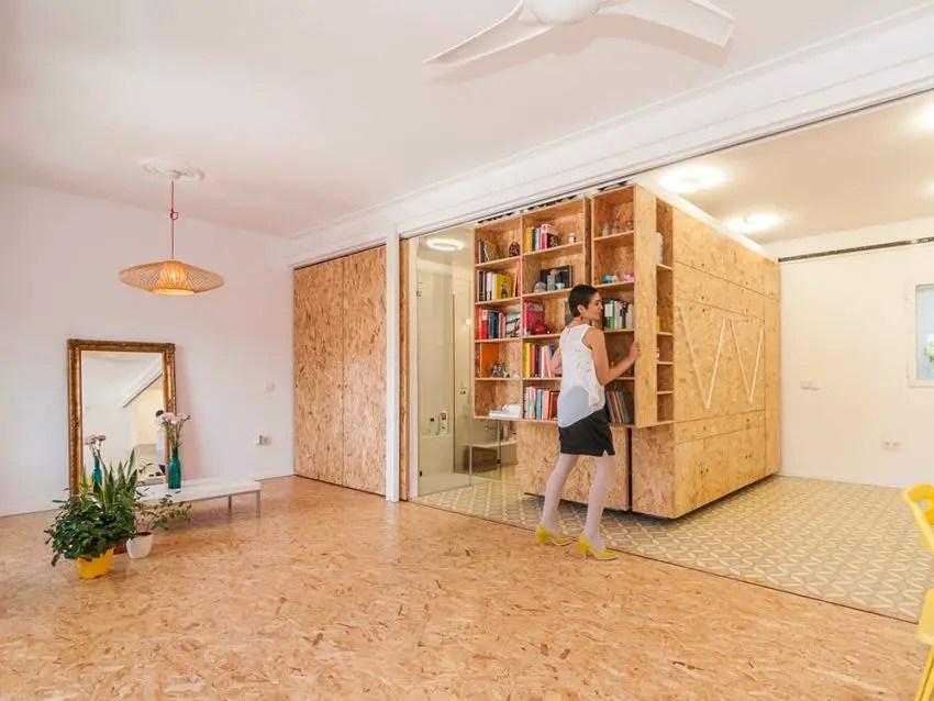 transformarea unei garsoniere in apartament transforming a studio apartment 10