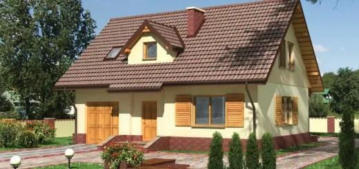 Proiecte de case cu etaj si terasa acoperita for Casa la tara ieftina