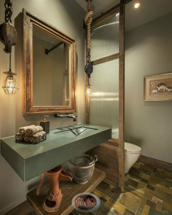 Rustic Modern Bathroom Design Ideas