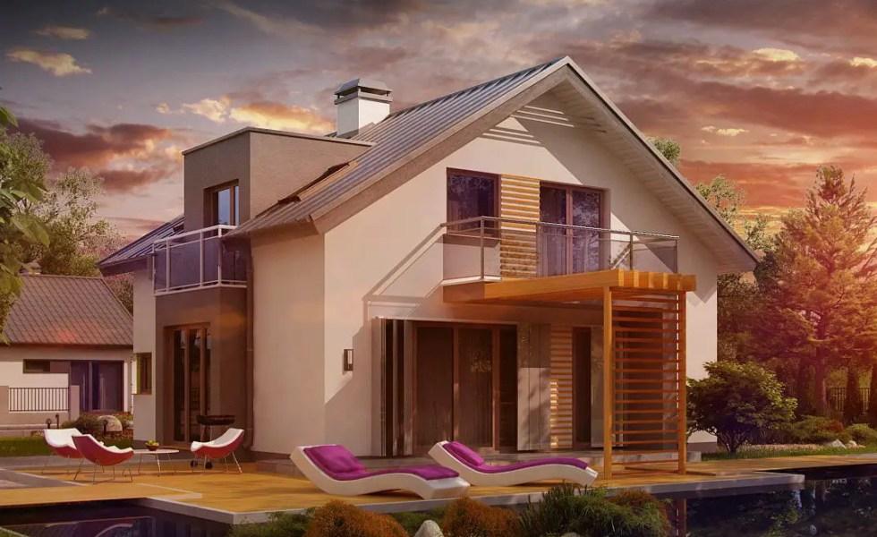 Proiecte de case cu trei dormitoare medii