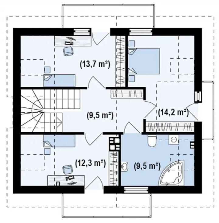 proiecte de case cu trei dormitoare Three bedroom house plans 8