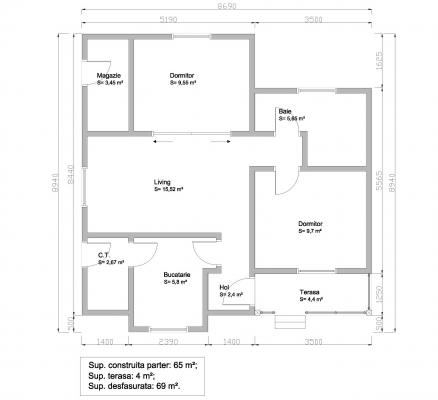 proiecte de case din barne Timberframe house plans 4