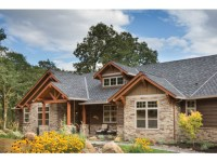 Wood and stone house plans - a charming symbiosis