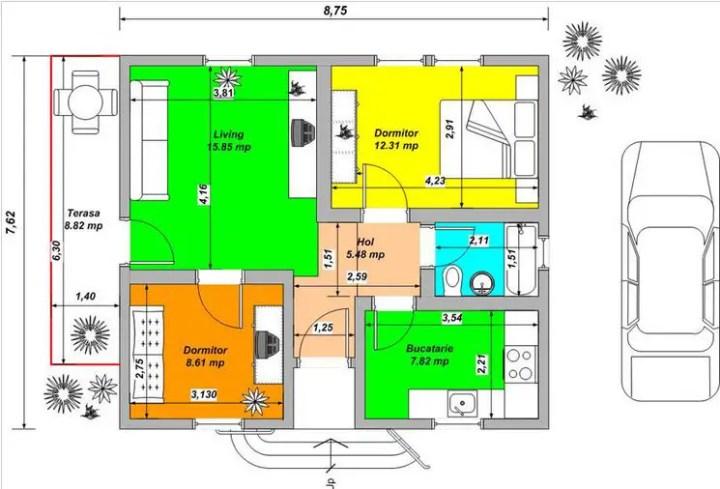 proiecte de case mici din osb Osb house building 5