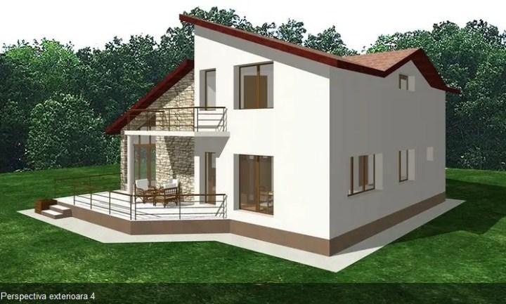 proiecte de case moderne cu balcoane in relief protruding balcony modern house plans 10