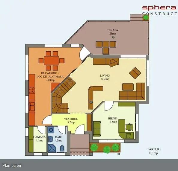 proiecte de case moderne cu balcoane in relief protruding balcony modern house plans 11