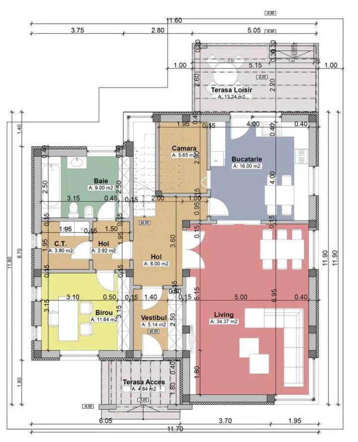 proiecte de case moderne cu balcoane in relief protruding balcony modern house plans 3