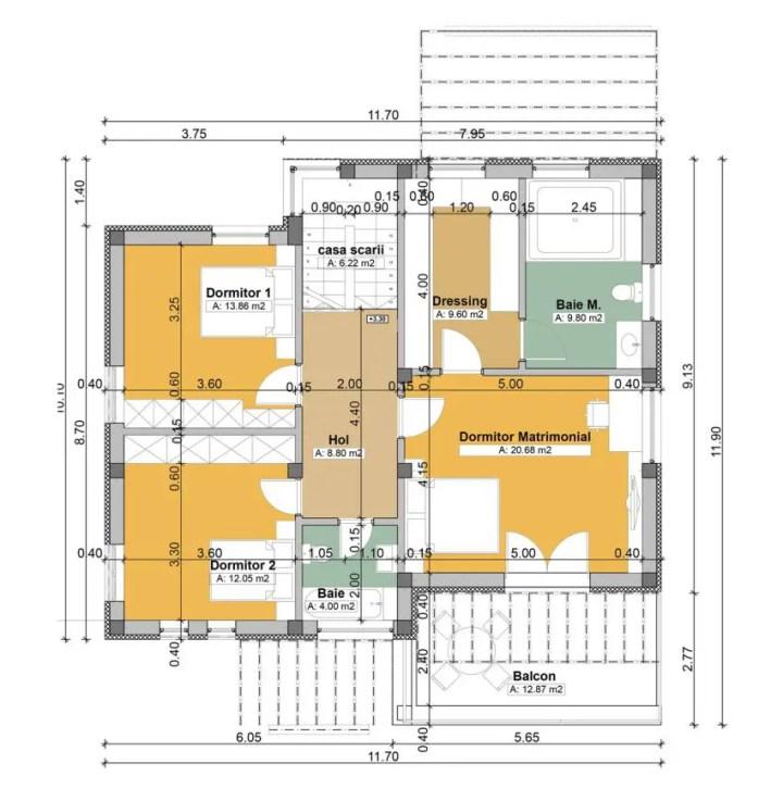 proiecte de case moderne cu balcoane in relief protruding balcony modern house plans 4