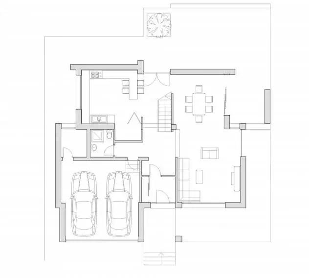 proiecte de case moderne cu balcoane in relief protruding balcony modern house plans 7