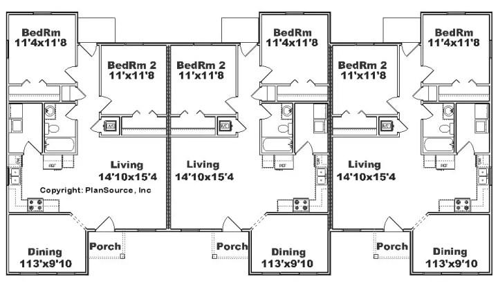 proiecte de case triplex Triplex house plans 2