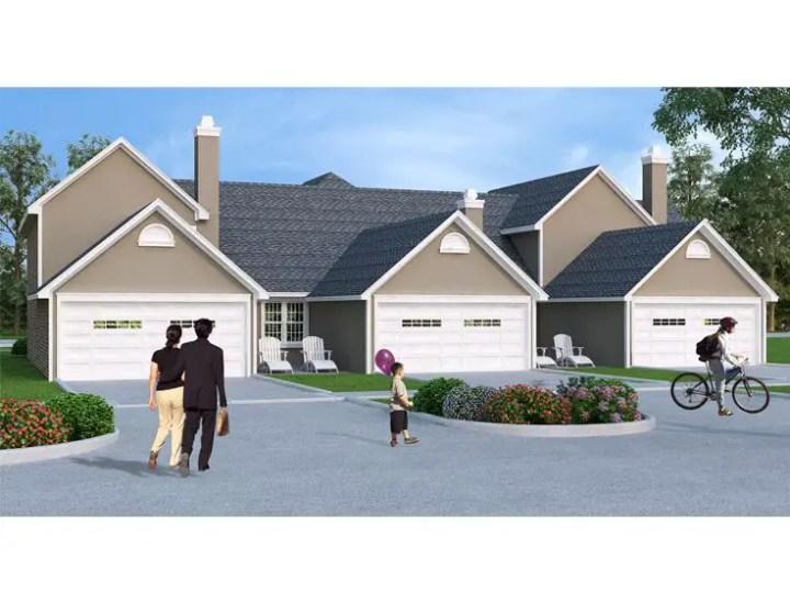 proiecte de case triplex Triplex house plans 4