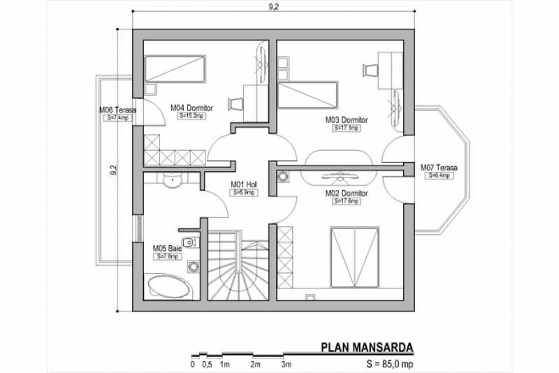 Bay window house plans