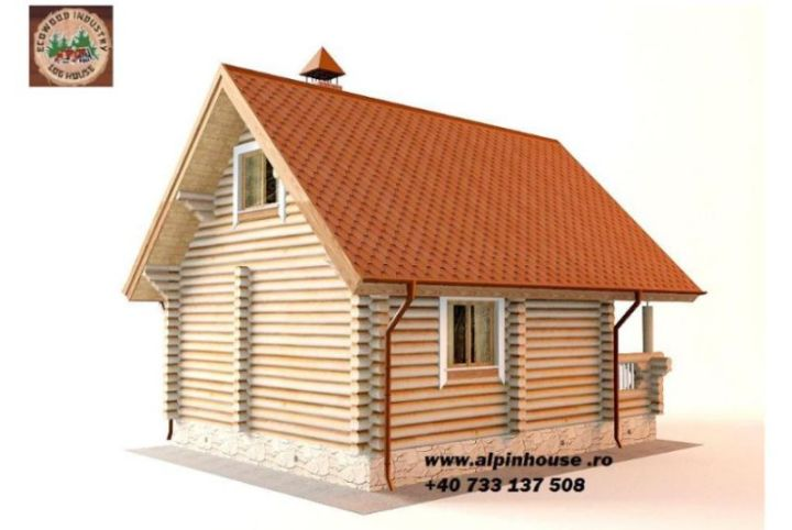 case ieftine din lemn rotund Cheap log houses 10