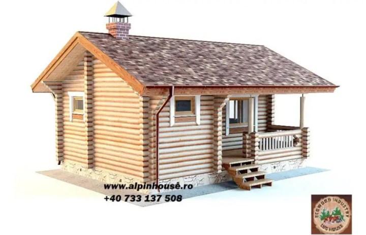 Case ieftine din lemn rotund la munte