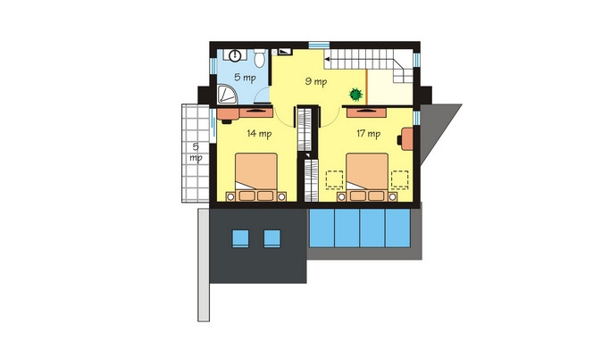 case moderne mici, cu mansarda Small modern houses with loft 9