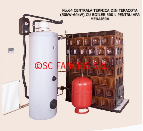 centrala termica in soba de teracota Wood stove central heating systems 2