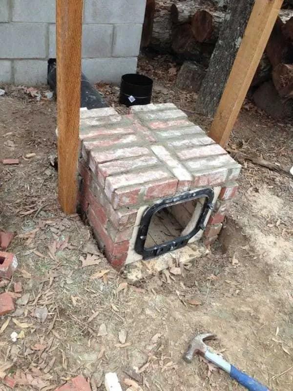 construirea unei afumatori din caramida building your own smokehouse 5