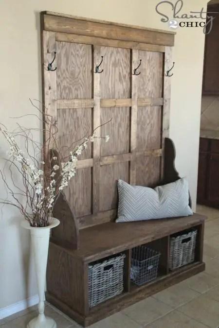 cuiere rustice din lemn Rustic wood coat racks 11