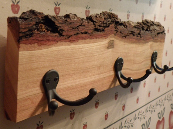 cuiere rustice din lemn Rustic wood coat racks 7