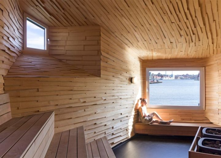 Sauna in stil industrial din Goteborg