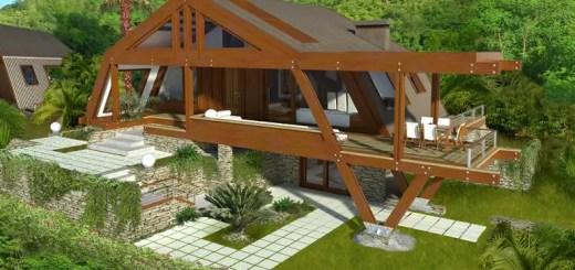 Case moderne din lemn si elegante