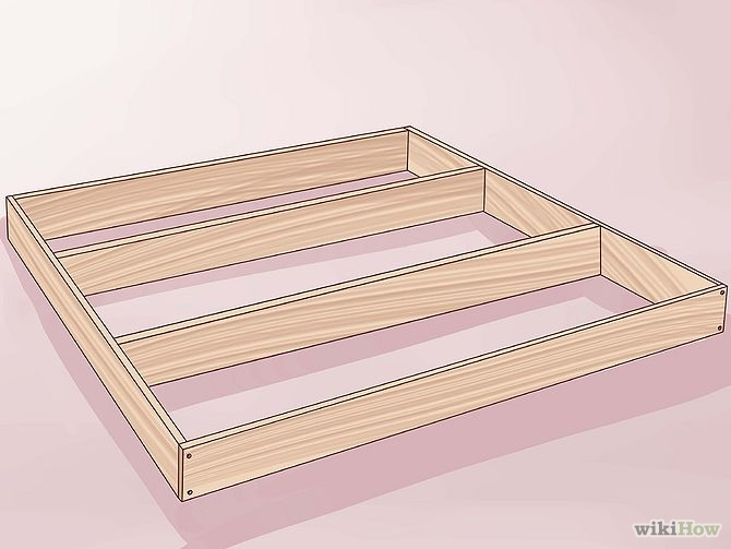 construirea unui pat din lemn How to build a wood frame bed 6