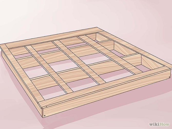 construirea unui pat din lemn How to build a wood frame bed 8