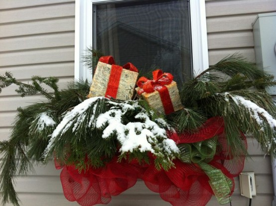decorarea geamurilor de craciun Christmas window design ideas 8